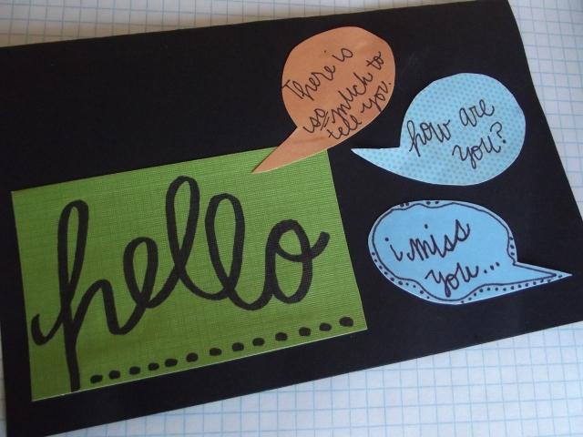 Hello Greeting Card up close