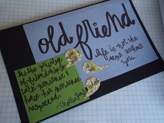 Old friend greeting card