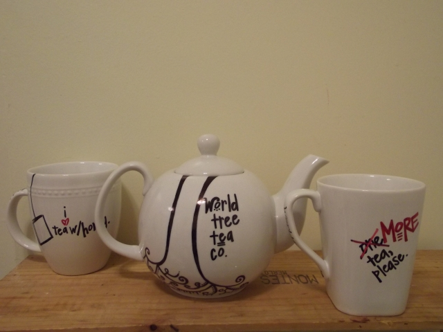 Tea pot and mugs finished