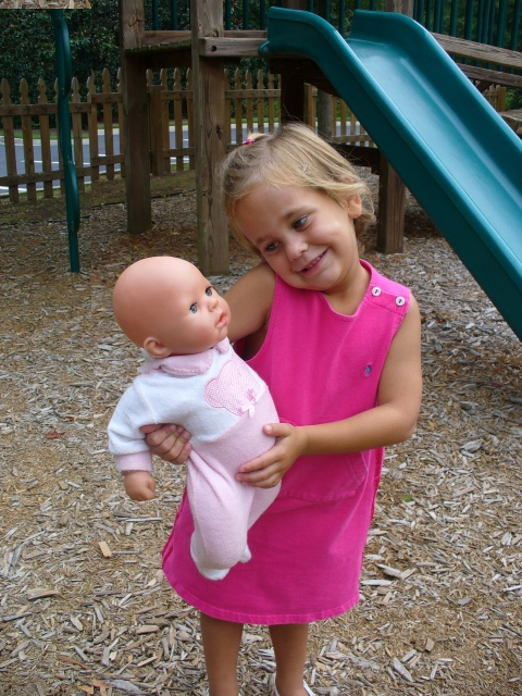 Avery and Shelly at the park