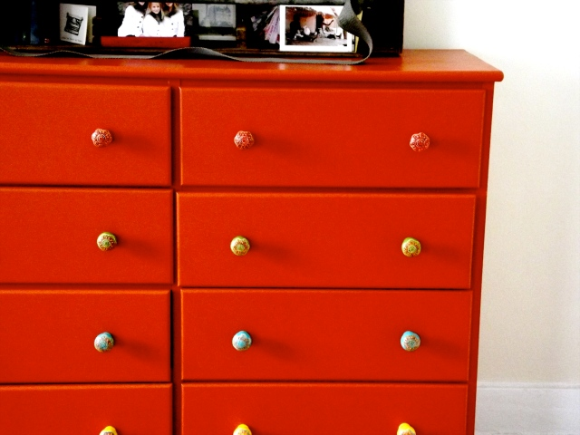 One side of dresser