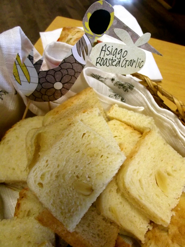 Bread with labels
