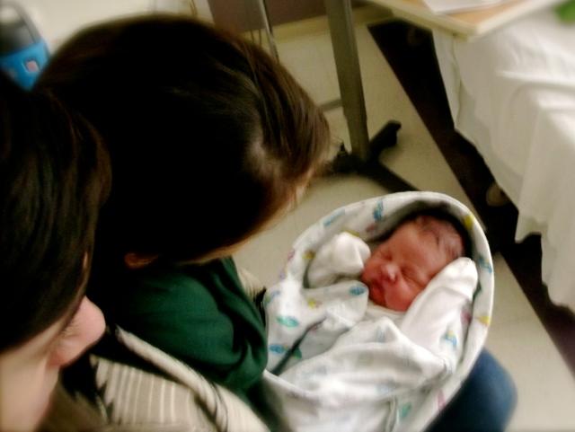 Sean and Danielle holding Gunner