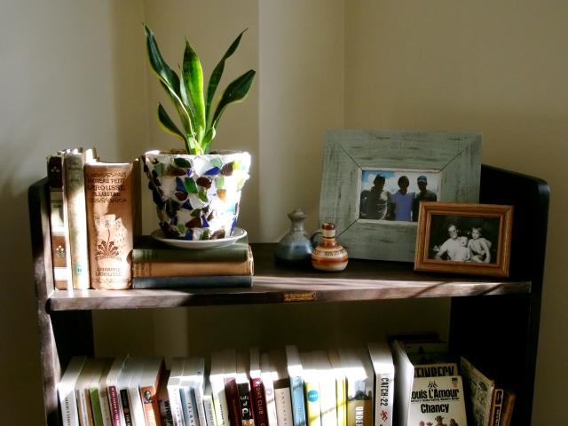 Top shelf of Library Cart