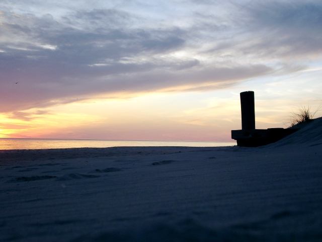 ludington beach at sunset 05:13