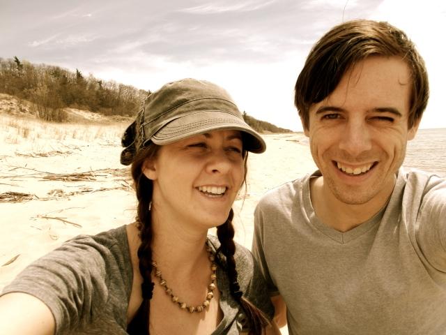 sean and dani on beach