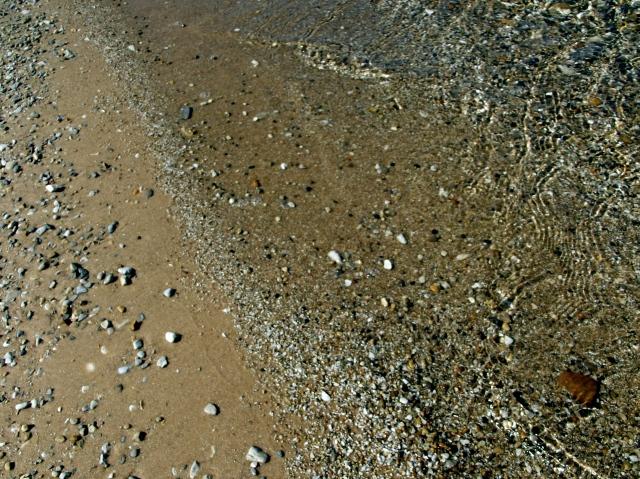 beach peebles on the beach