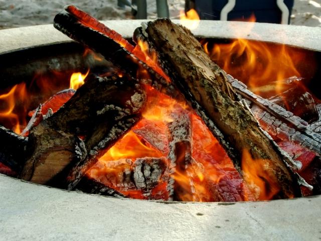 bonfire in pentwater