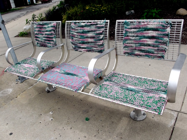 crocheted bus seats