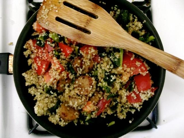 quinoa, kale burritos