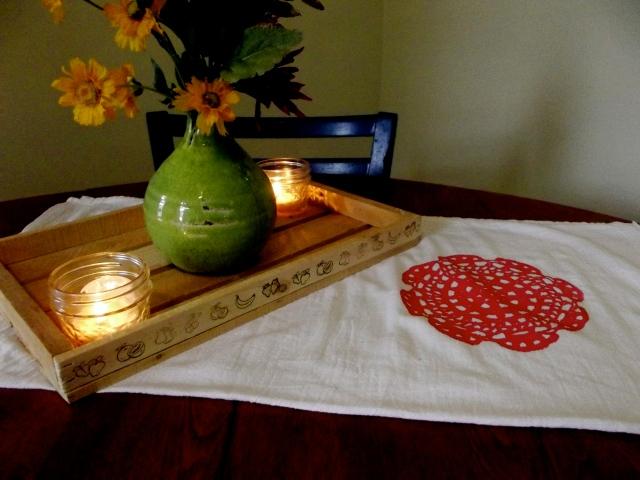 towel on table