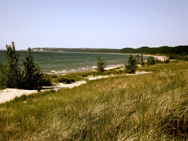 View of Pentwater Beach