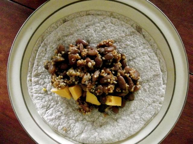 Quinoa Pinto Burrito 1