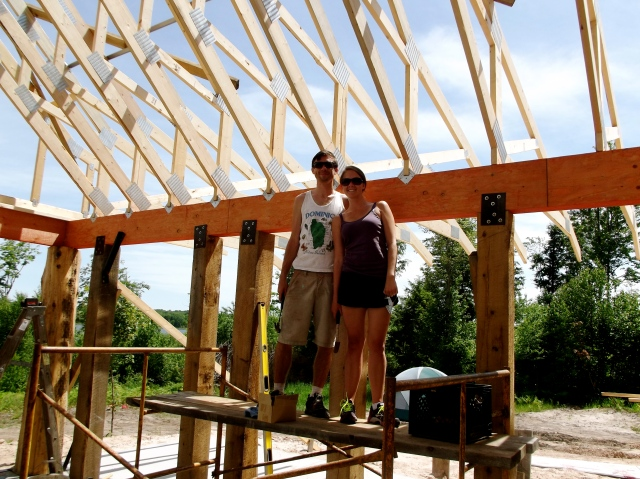 Sean and Danielle working on house