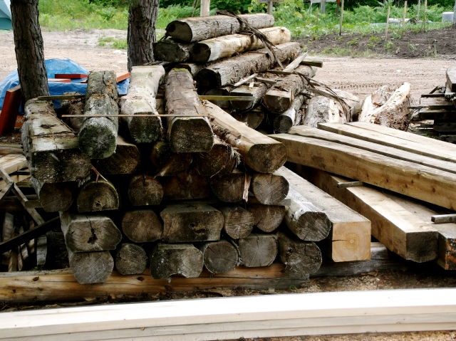 wood pile on property