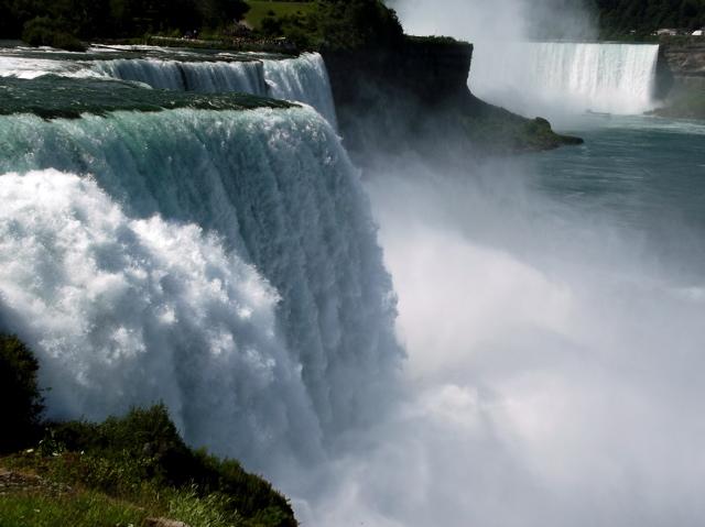 close up of falls