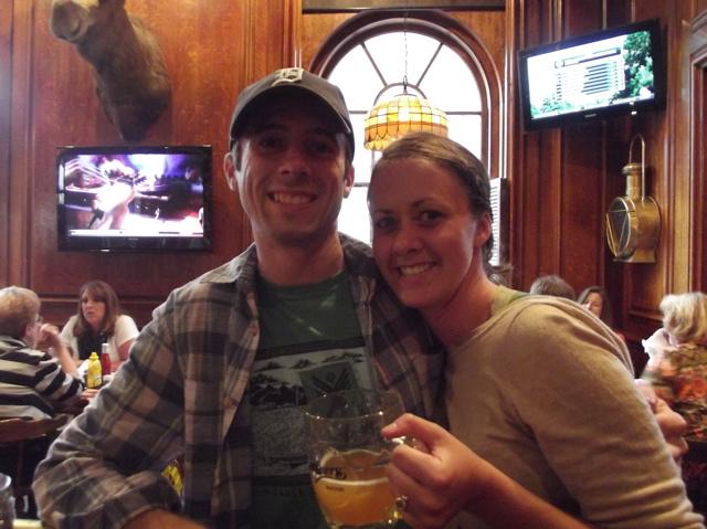 sean and i at cheers bar