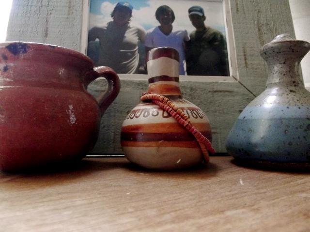 3 clay jars